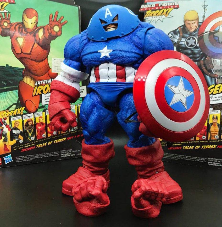 Marvel Select DST X Men Juggernaut Captain America Custom 9 Loose Action Figure
