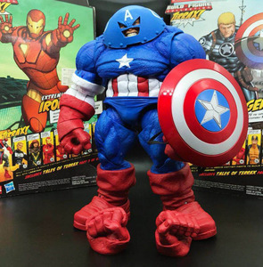 "Marvel Select DST X-Men Juggernaut Captain America Custom 9"" Loose Action Figure(China)"