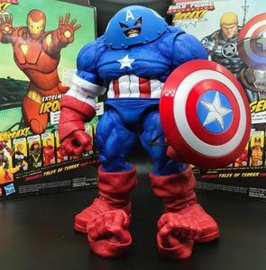 "Image 1 - Ms Select Dst Juggernaut Captain Amerikaanse Custom 9 ""Loose Action Figure"