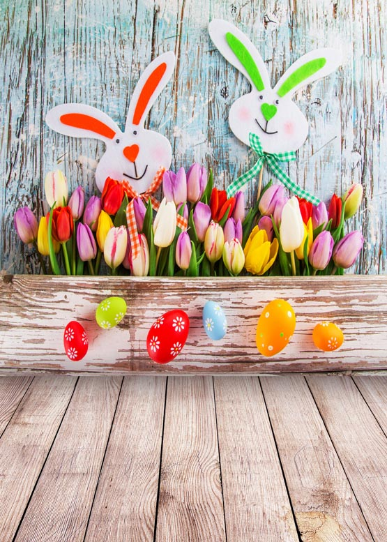 Custom vinyl cloth Easter rabbits flowers photography backdrops for kids newborn photo studio portrait backgrounds props S-897 custom vinyl cloth print 3 d blue wood wall floor photo studio backgrounds for portrait photography backdrops props s 2341