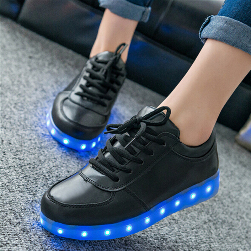 11 Unisex Menamp; Color Led Schoenen Glowing Shoe Women Luminous Shoes bv6fgyY7
