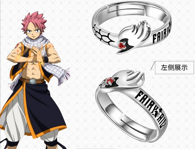 Fairy Tail Natsu Dragneel Anime 925 Silver Jewelry Rings