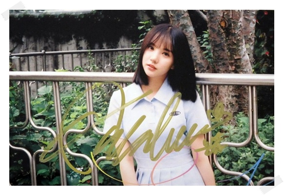 signed  GFRIEND Jung Eun Bi autographed photo RAINBOW  6 inches freeshipping 2 versions 102017