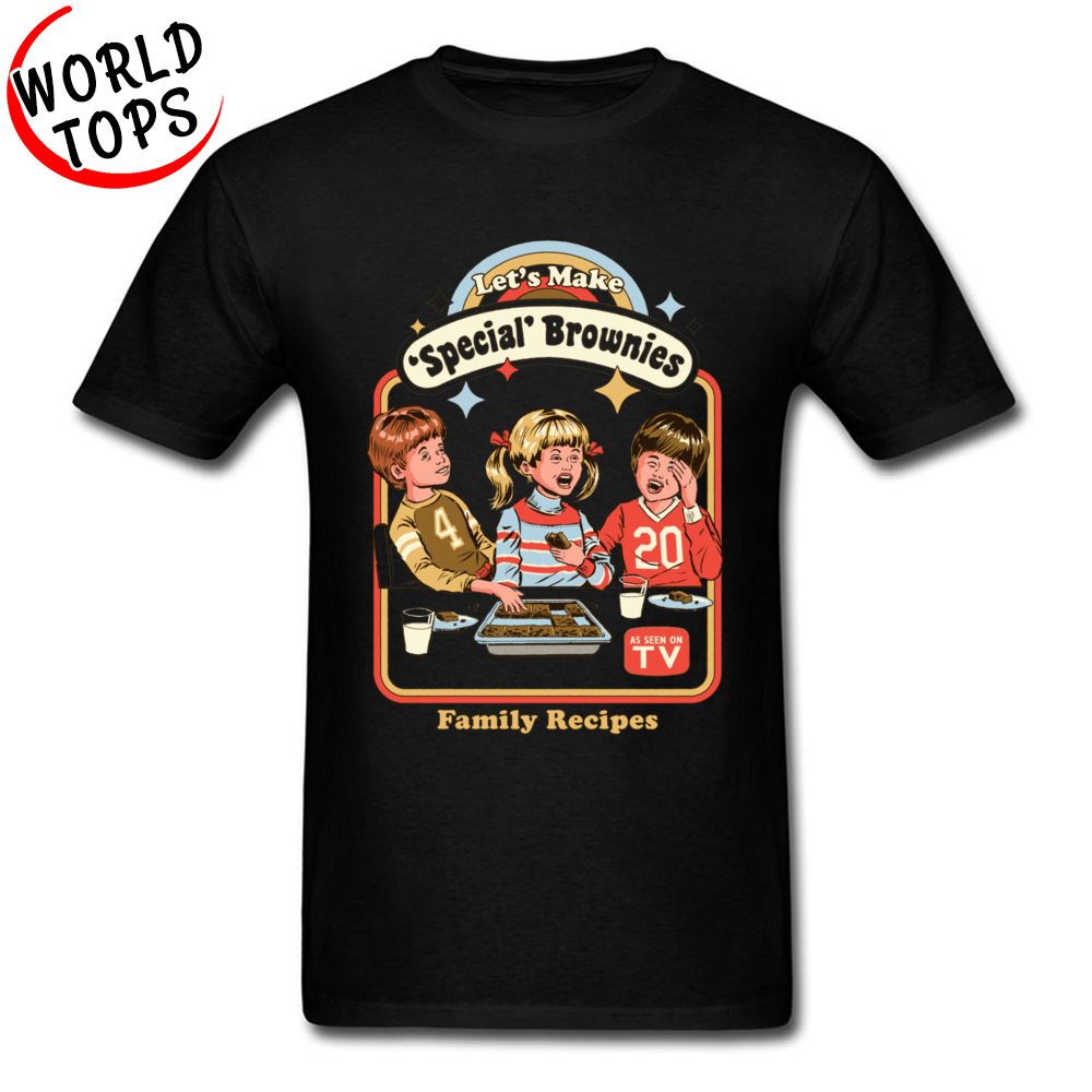 Vegan Food TV Childhood T Shirts Lets Make Brownies Family Recipes Cartoon T-Shirts Thanksgiving Day Teenager Anime Tshirt Boy image