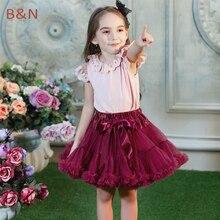 Buenos Ninos/модные юбки-пачки; пышная шифоновая юбка-американка для маленьких девочек 1-10 лет