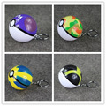 4styles Poke Ball Ash Pikachu Pokeball Super Master Great Ash Ball PVC Action Balls Toys Keychain Pendents 7cm