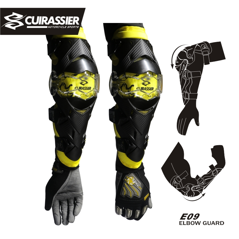 Cuirassier Motorcycle Motocross Kneepad Off-Road Racing Knee Brace Elbow Pads Safety MX Protection Guards Protective Protector