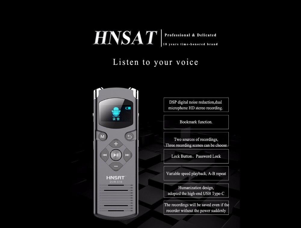 Kenntnisreich 28 Sprachen Rauschunterdrückung Hd Stereo Aufnahme Digital Voice Recorder Dvr-616 Mit Passwortschutz Unterhaltungselektronik