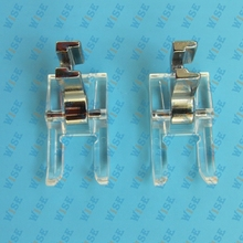 2PCS Clear Plastic Open Toe Satin Stitch Foot Singer Janome Kenmore Brother Bernette # CY-9909L
