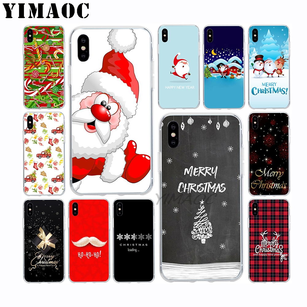 YIMAOC Merry Christmas Beard Soft TPU Silicone Case for Apple Iphone Xr Xs Max X 10 8 Plus 7 6S 6 Plus SE 5S 5 7Plus 8Plus Cover in Fitted Cases from Cellphones Telecommunications