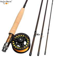 Fly Fishing Combo 3 5 8WT 8.3 / 9FT Carbon Fiber Fly Fishing Rod &  Large Arbor Aluminum Fly Reel & WF Fly Fishing Line Backing