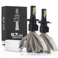 S7 Car Headlight Kit h7 LED Light Bulbs For Car H4 LED H3 H11 H1 880 9004 9007 9005 9006 12V 55W 6000K 12000LM Auto Bulb Light