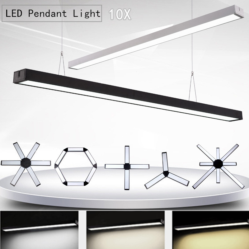 Pendant Lights 10pcs /lot Led Office Pendant Light 8w 15w 18w 30wblack Silver Hanging Suspension Panel Droplight For Office Dining Room Table Convenience Goods