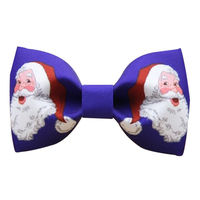 Men S Stylish Fashion Butterfly Bow Tie High Quality Handmade Solid Blue Symmetry Santa Claus Pretied