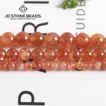 Необычные золотые бусины Sunstone высокого качества оранжевый лунный камень размер 4-10 мм свободные драгоценные камни аксессуары для изготовления ювелирных изделий