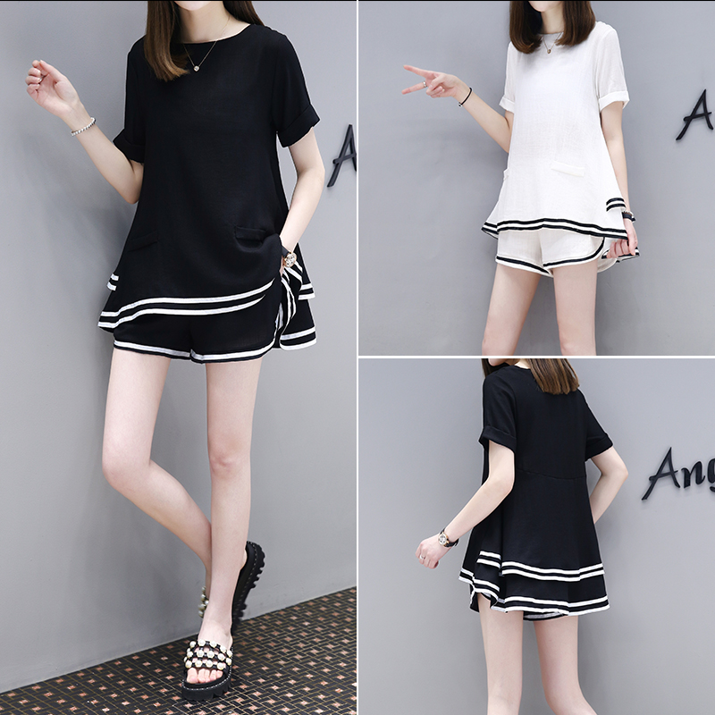849d38c1c00 2017 summer new maternity dress loose two-piece short-sleeved shorts  pregnant women set