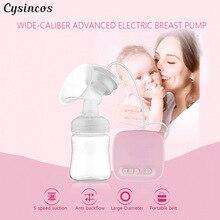 Бренд CISINCOS, автоматические молокоотсосы, Электрический молокоотсос, натуральный всасывающий комплект для увеличения груди, бутылочка для кормления, USB молокоотсос