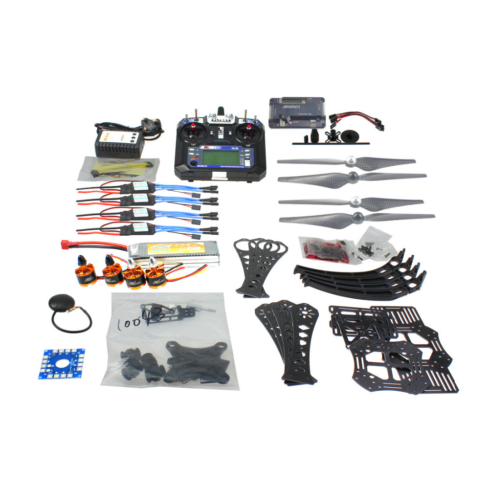 ФОТО f14892-j diy rc drone quadrocopter rtf with gimbal frame kit qq super fs-i6 tx