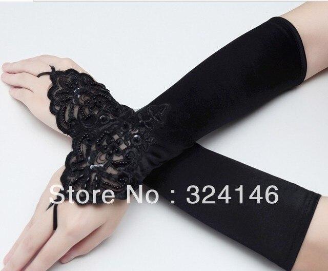 chepa $4/par New design black Bridal gloves Wedding Gloves fingerless gloves wholesale
