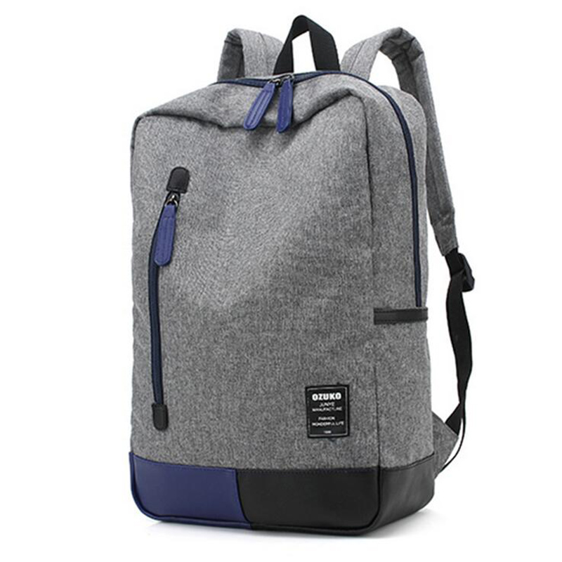 Ozuko 2018 Новый стиль Для мужчин холст рюкзак модные Колледж студент мешок для подростков мужской ноутбук Mochila Повседневное туристические рюкз...