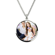 Wholesale Sterling Silver  Custom Photo Charm Engraved Photo Mother  Necklace Personalized Keepsake Picture Necklace necklace 925 sterling silver custom photo