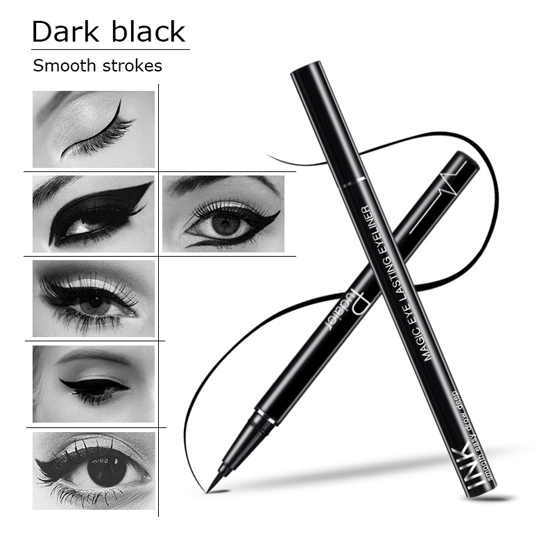 Pudaier Black Waterproof Liquid Eyeliner Make Up Beauty Long lasting Easy to Wear Natural Women Professional Cosmetic Eye Liner