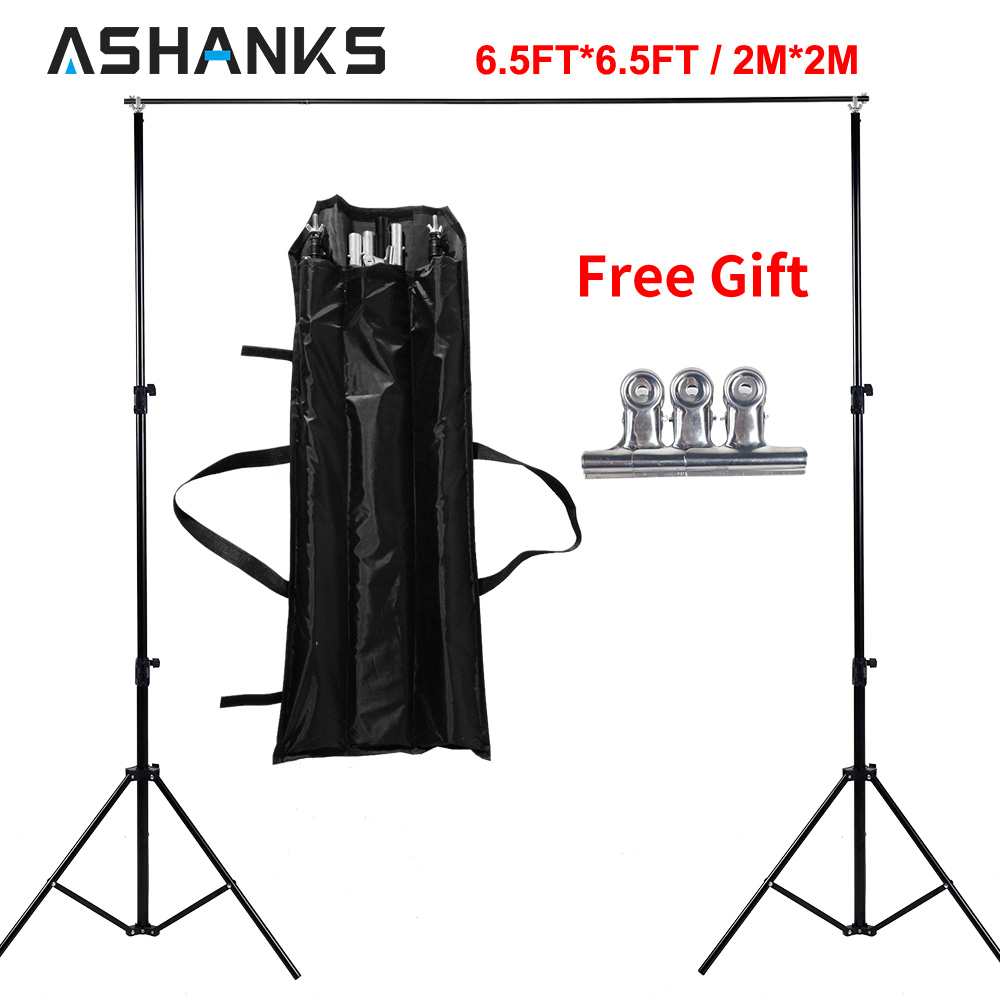 Ashanks Photo Video Studio 6.5Ft Adjustable Muslin Background Backdrop Support System Stand
