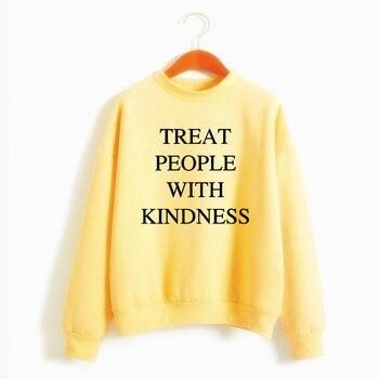 Harry Styles traite les gens avec gentillesse sweat-shirt décontracté femme casual chaud pull à capuche femme pull à manches longues automne hiver