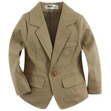 woven cotton 100%  toddler BOY blazer BB151202A solid khaki