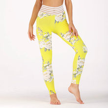 2018 Nieuwe Vrouwen Zomer Bloemenprint Leggings Fashion Slim Fit Yoging Sportscholen Bodybuilding Workout Active Sportwear Leggings(China)