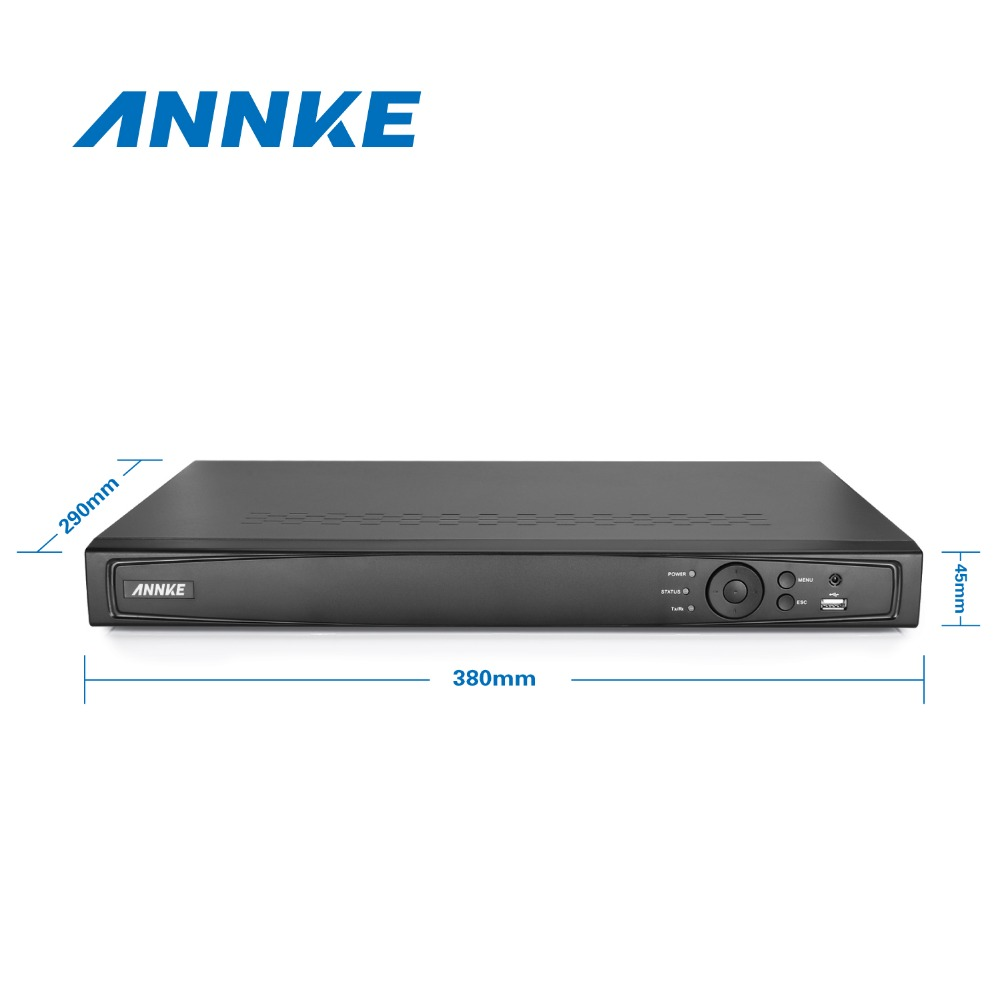 ANNKE 8CH 1080P HDMI PoE NVR 2.0MP IP Camera POE System P2P Cloud 1080P NVR KIT Surveillance Camera System CCTV System PoE Kit