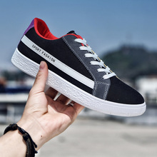 Spring And Summer New Canvas Men's Shoes Breathable Men's Casual Shoes Fashion Low To Help Tie Flat Shoes Men's Vulcanized Shoes