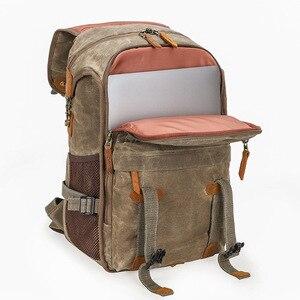 Image 5 - 최신 내셔널 지오그래픽 카메라 가방 바틱 캔버스 카메라 배낭 대용량 방수 사진 가방 카메라 케이스