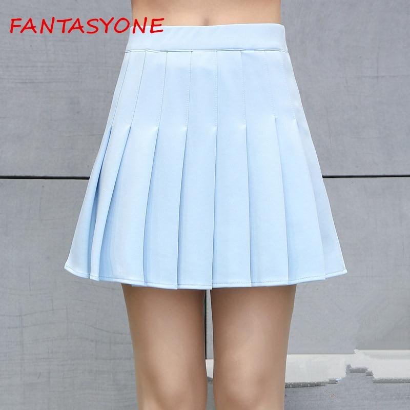 FANTASYONE 2017 Summer faldas School Style Women Elegant Pleated Mini Skirts High Waist Casual Girls Skirts Women Leggings Skirt