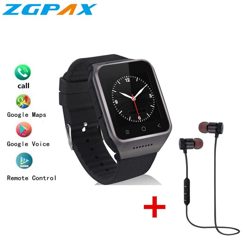 ZGPAX S8 pro PK kw06 M9 Smart Watch MTK6580 Android 5 1 Quad Core RAM 1GB