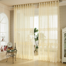 Bird Nest Mesh Fabric Florals Drapery Curtain Translucidus Voile for Bedroom Sitting Room(China)