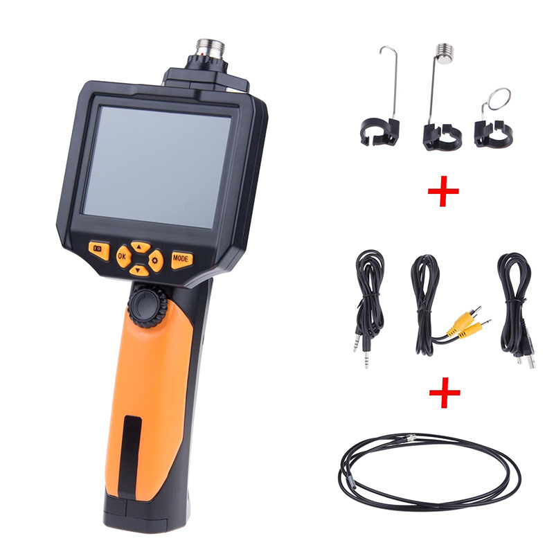 Video 3.5 LCD Digital HD Snake Camera Drain Pipe Inspection Endoscope Borescope Wire Probe Waterproof Camera 1M Cable explorer 8807al inspection camera boroscope 1m cable 4 5 mm 3 5 lcd recordable wireless inspection camera video borescope