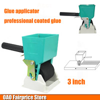Glue Applicator Professional Coated Glue Roller Simple Portable Woodworking Glue Flow Can Be Adjusted 3 Inch