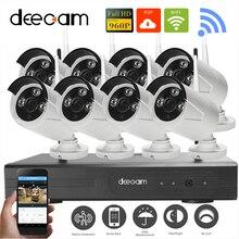 Deecam H.264 NVR Беспроводная Система Видеонаблюдения Беспроводной HD 960 P Открытый 8-КАНАЛЬНЫЙ БЕСПРОВОДНОЙ Сетевой Безопасности Камеры Системы