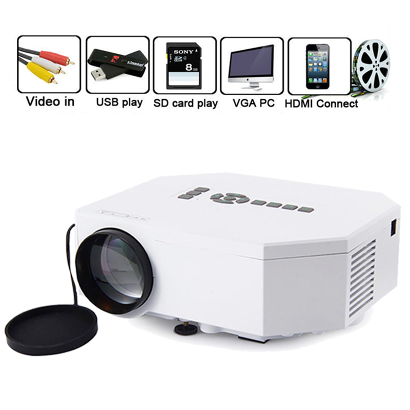 Home cinema theater beamer uc30 portable mini 1080p led for Beamer portable