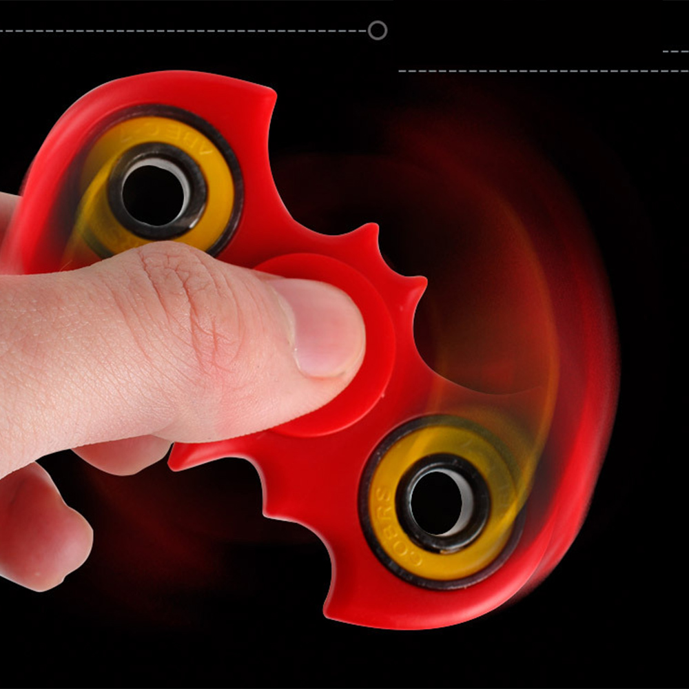 EDC Hand Spinner Toy Colorful Batman Fidget Spinner Antistress Toy Tri-spinner