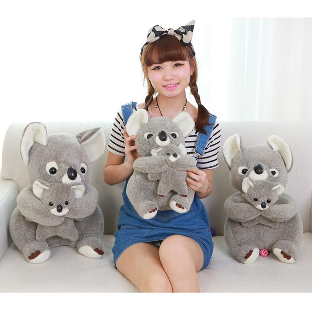 Kawaii Peluches Lindo Gris Koala De Peluche Juguetes Para Niños Brinquedos Peluche Regalo del Día de Los Niños Juguetes de Los Niños Regalo de Cumpleaños