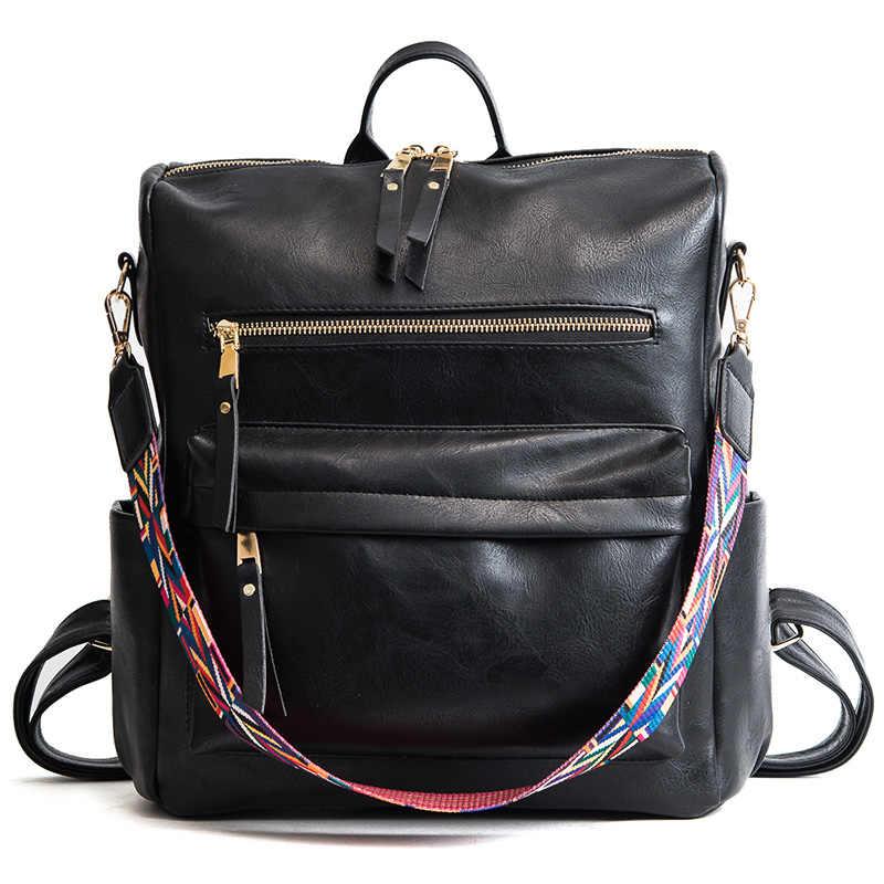 Новый Дизайнерский Модный женский рюкзак, кожаные рюкзаки для подростков, школьная сумка, винтажная забавная сумка, женская сумка