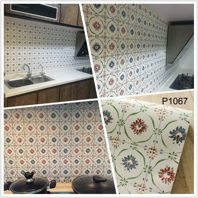 0,45 Mt * 10 Mt Selbstklebende PVC Küche Tapete Wc Badezimmer Renovierung  Wasserdichte Wandaufkleber
