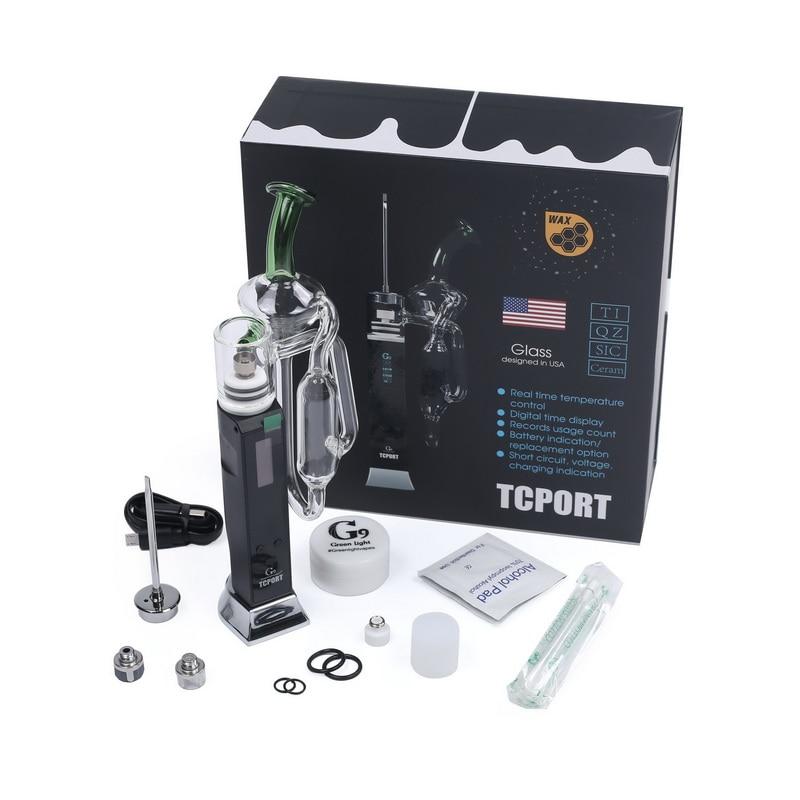 Enail Cigarette Hookah Kit G9 TCPort DAB RIG Vaporizer For Wax Built in 3000mAh Battery Vape