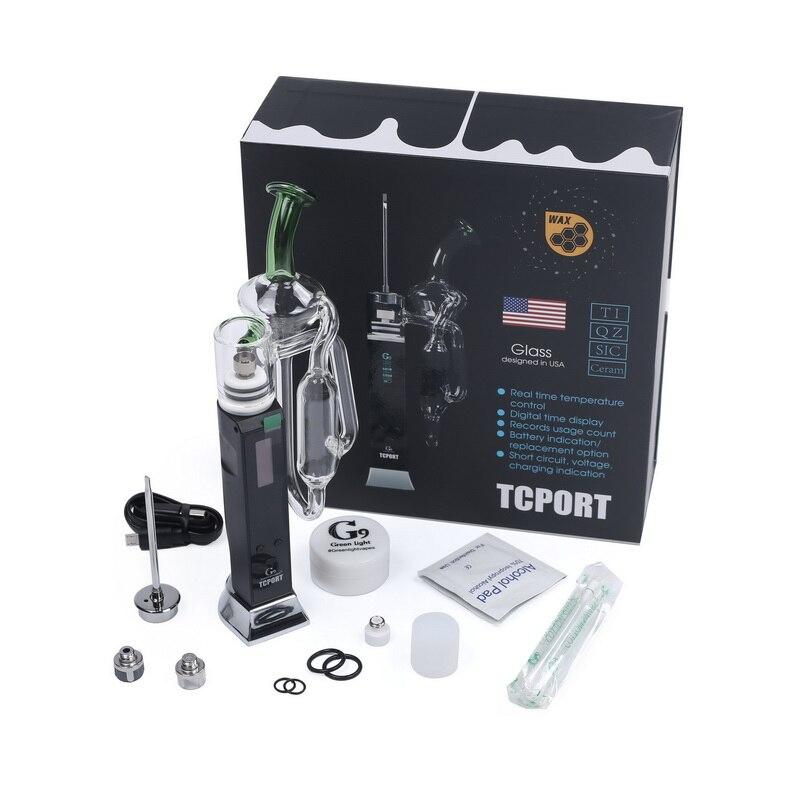 RIG Kit Hookah Cigarro G9 TCPort Enail DAB Vaporizador Para Cera Embutido 3000 mah Bateria Vape Vaper com Cap Carb com Dab Ferramenta C