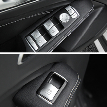 Auto Window Lifter Control Frame Switch Decor Armrest Panel Trim Sticker Cover For Mercedes Benz C E Class W204 W212 Car Styling цены