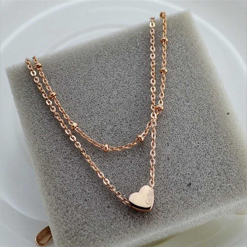 1Pc Women MultiLayer Heart Bead Gold Tone Bracelet Foot Chain Jewelry Anklet Charm