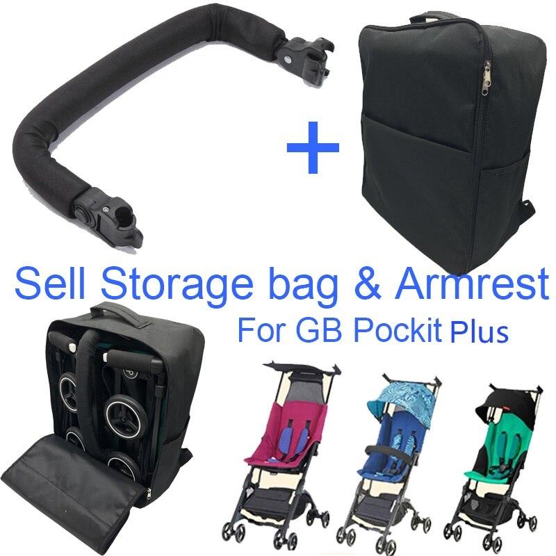 Acessórios carrinho de bebê saco de Viagem e apoio de braço para GB Pockit pockit além de mochila saco De Armazenamento bar bumper para Goodbaby 2019