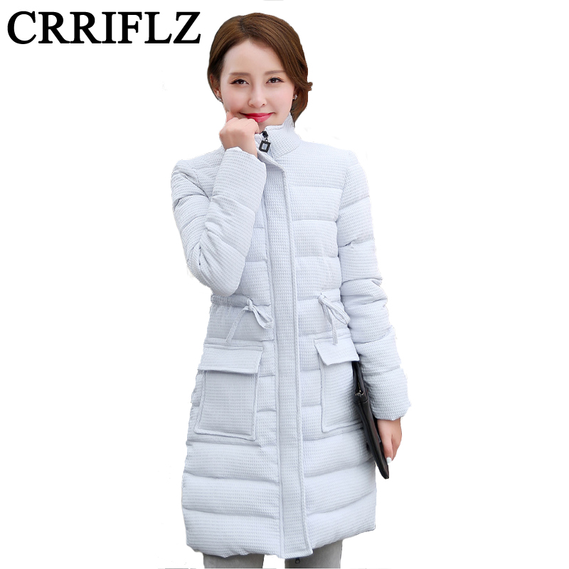 ФОТО 2016 Winter Women Coat Down Fashion Slim Down In The Long Section Thick Padded Down Padded Coat Collar Female IF646
